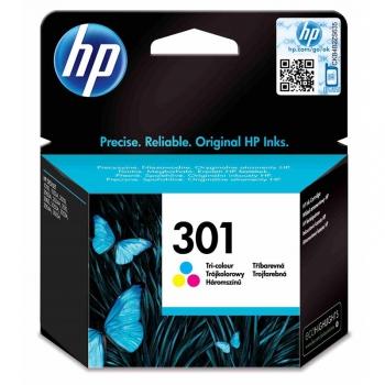 Inkoustová náplň HP Deskjet No. 301, 165 stran - originální červená/modrá/žlutá
