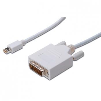 Kabel Digitus minDisplayPort - DVI(24+1), 2m bílý
