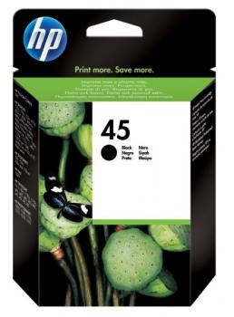 Inkoustová náplň HP 45, 930 stran černá