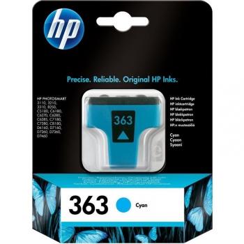 Inkoustová náplň HP 363, 4ml, 350 stran modrá