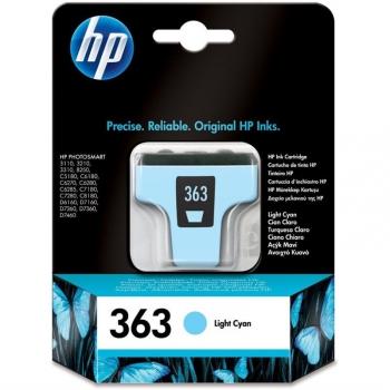 Inkoustová náplň HP 363, 5,5ml - světle modrá