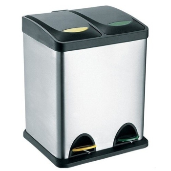 Odpadkový koš na tříděný odpad TORO 270231 černý/nerez