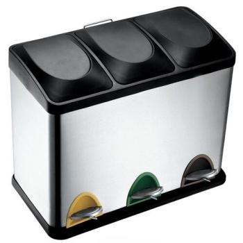 Odpadkový koš na tříděný odpad TORO 270233 černý/nerez