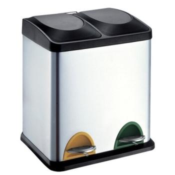 Odpadkový koš na tříděný odpad TORO 270234 černý/nerez