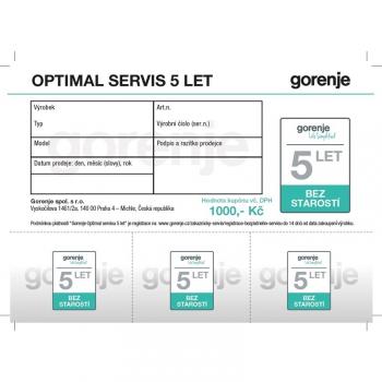 Záruka Gorenje Optimal servis 5 let