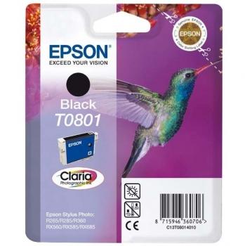 Inkoustová náplň Epson T0801, 7,4ml  - originální černá