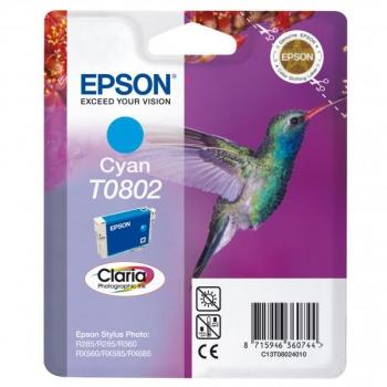 Inkoustová náplň Epson T0802, 7,4ml  modrá