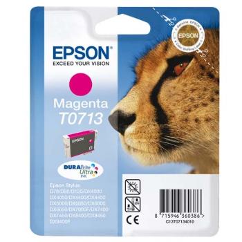 Inkoustová náplň Epson T0713, 270 stran růžová