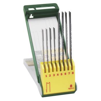 Sada pilových plátků Bosch 8dílná kazeta pilových plátků na dřevo/kov/plast (U-stopka)