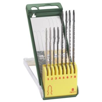 Sada pilových plátků Bosch 8dílná kazeta pilových plátků na dřevo/kov/plast (T-stopka)