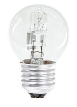 Žárovka halogenová EMOS mini globe, 28W, E27, teplá bílá