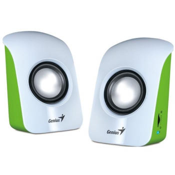Reproduktory Genius SP-U115 2.0 bílé/zelené