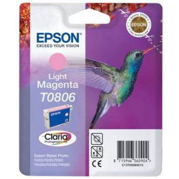 Inkoustová náplň Epson T0806, 7,4ml  - originální červená