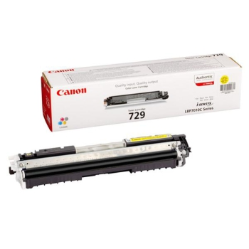 Toner Canon CRG-729Y, 1000 stran - originální žlutý