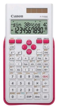 Kalkulačka Canon F-715SG bílá/růžová