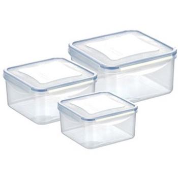 Sada potravinových dóz Tescoma Freshbox 3 ks,1.2,2.0,3.0 l, čtverc.