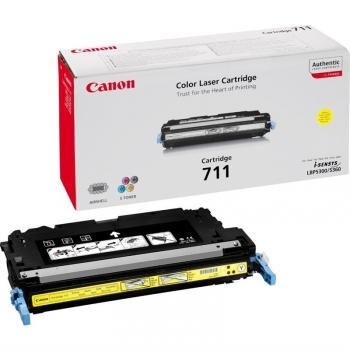 Toner Canon CRG-711Y, 6000 stran - originální žlutý (711Y   6K stran žlutý)