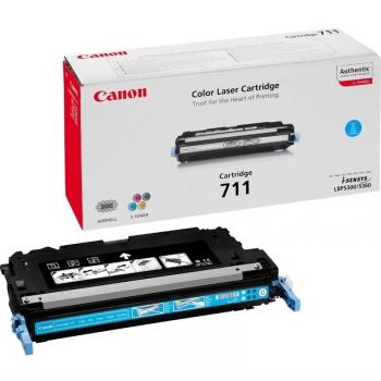 Toner Canon CRG-711C, 6000 stran - originální modrý (711C 6K stran modrý )