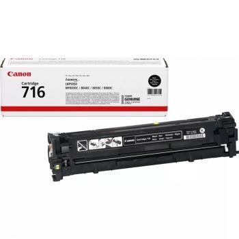 Toner Canon CRG-716Bk, 2,2K stran - originální černý (716Bk 2200 stran černý)