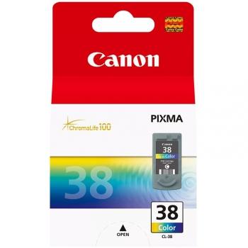Inkoustová náplň Canon CL-38C, 207 stran - originální červená/modrá/žlutá