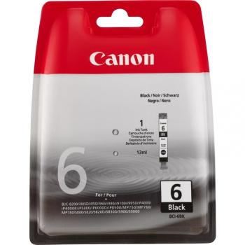 Inkoustová náplň Canon BCI-6Bk, 210 stran - originální černá