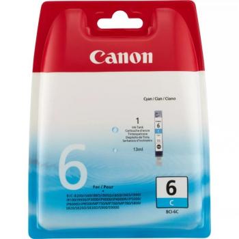 Inkoustová náplň Canon BCI-6C, 210 stran - originální modrá