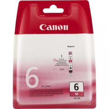 Inkoustová náplň Canon BCI-6M, 210 stran - originální červená