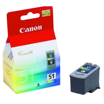 Inkoustová náplň Canon CL-51C, 330 stran červená/modrá/žlutá