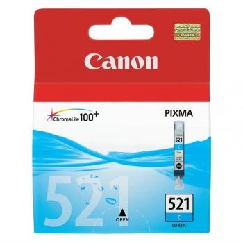 Inkoustová náplň Canon CLI-521C, 530 stran - originální modrá