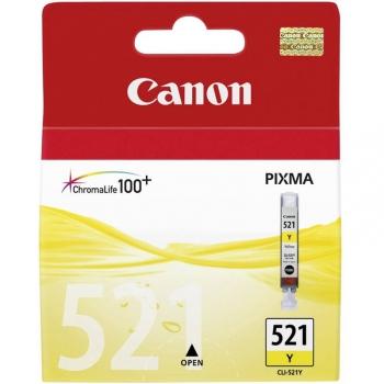Inkoustová náplň Canon CLI-521Y, 530 stran - originální žlutá