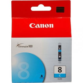 Inkoustová náplň Canon CLI-8C, 420 stran - originální modrá