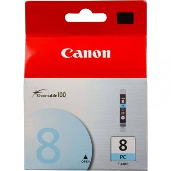 Inkoustová náplň Canon CLI-8PC, 850 stran - originální modrá
