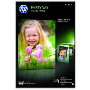 Fotopapír HP Glossy Photo 10x15, 200g, 100 listů