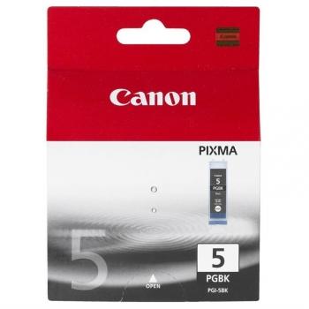 Inkoustová náplň Canon PGI-5Bk, 340 stran - originální černá