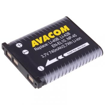 Baterie Avacom Olympus Li-40B/Li-42B/Fujifilm NP-45/Nikon EN-EL10 Li-ion 3,7V 740mAh