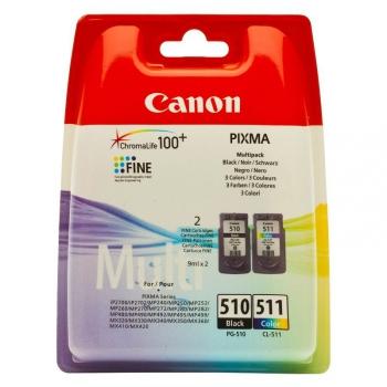 Inkoustová náplň Canon PG-510 / CL-511, 9ml - originální černá/červená/modrá/žlutá