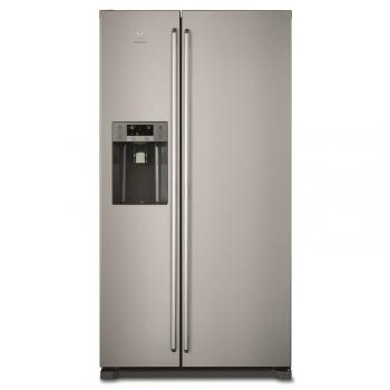 Americká lednice Electrolux EAL6140WOU šedá/nerez