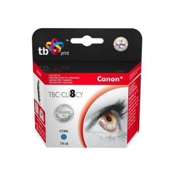Inkoustová náplň TB Canon CLI-8C - kompatibilní modrá
