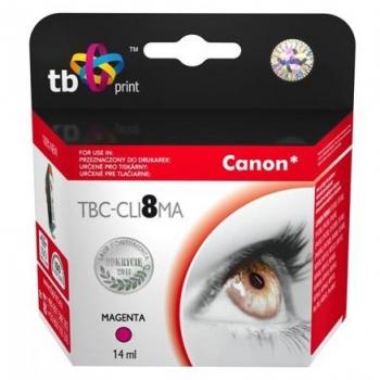 Inkoustová náplň TB Canon CLI-8M - kompatibilní červená