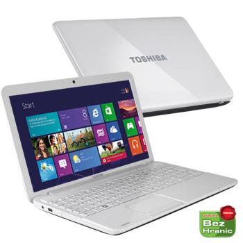 "Notebook Toshiba Satellite C855-1QH bílý (Celeron B830, 4GB, 500GB, 15,6"", DVD±R/RW, Intel HD, BT, CAM, W8 )"