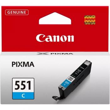 Inkoustová náplň Canon CLI-551 C, 304 stran - originální modrá