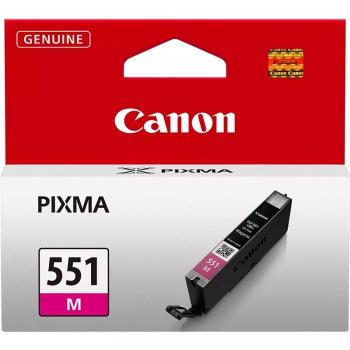 Inkoustová náplň Canon CLI-551 M, 298 stran - originální červená
