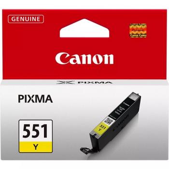 Inkoustová náplň Canon CLI-551 Y, 330 stran - originální žlutá