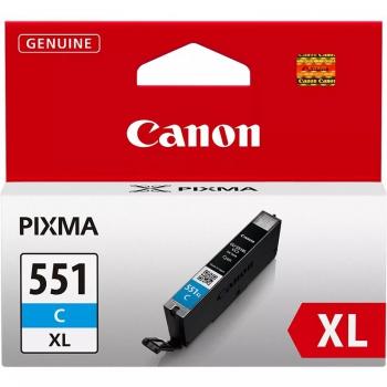 Inkoustová náplň Canon CLI-551XL C, 660 stran - originální modrá