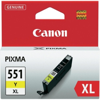 Inkoustová náplň Canon CLI-551XL Y, 685 stran - originální žlutá