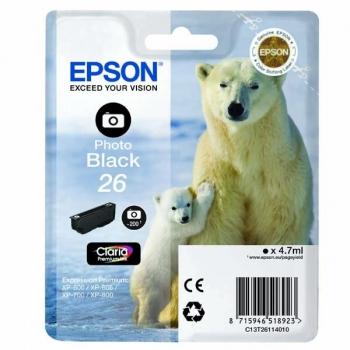 Inkoustová náplň Epson T2611, 200 stran - foto černá