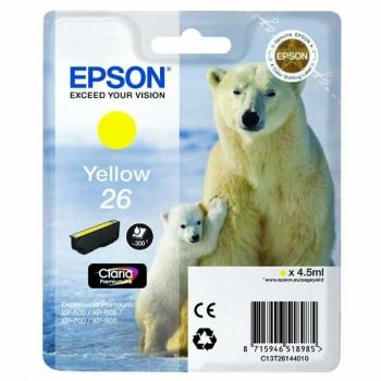 Inkoustová náplň Epson T2614, 4,5ml  žlutá