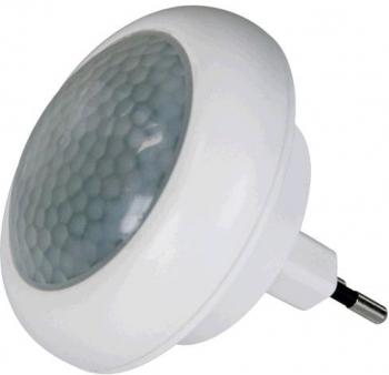 Noční světlo EMOS do zásuvky, 8 x LED s PIR čidlem bílé