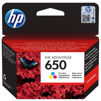 Inkoustová náplň HP No. 650, 200 stran - originální červená/modrá/žlutá