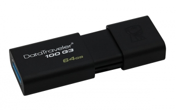 USB Flash Kingston DataTraveler 100 G3 64GB černý